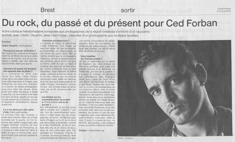 Forban-Photographie, Cédric DAUPHIN article Ouest-France